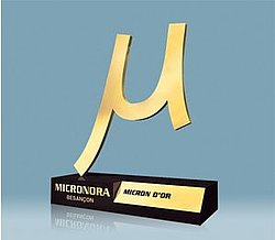 MICRONORA 2008 Golden Micron for CEDRAT TECHNOLOGIES' Stepping Piezo Actuators!